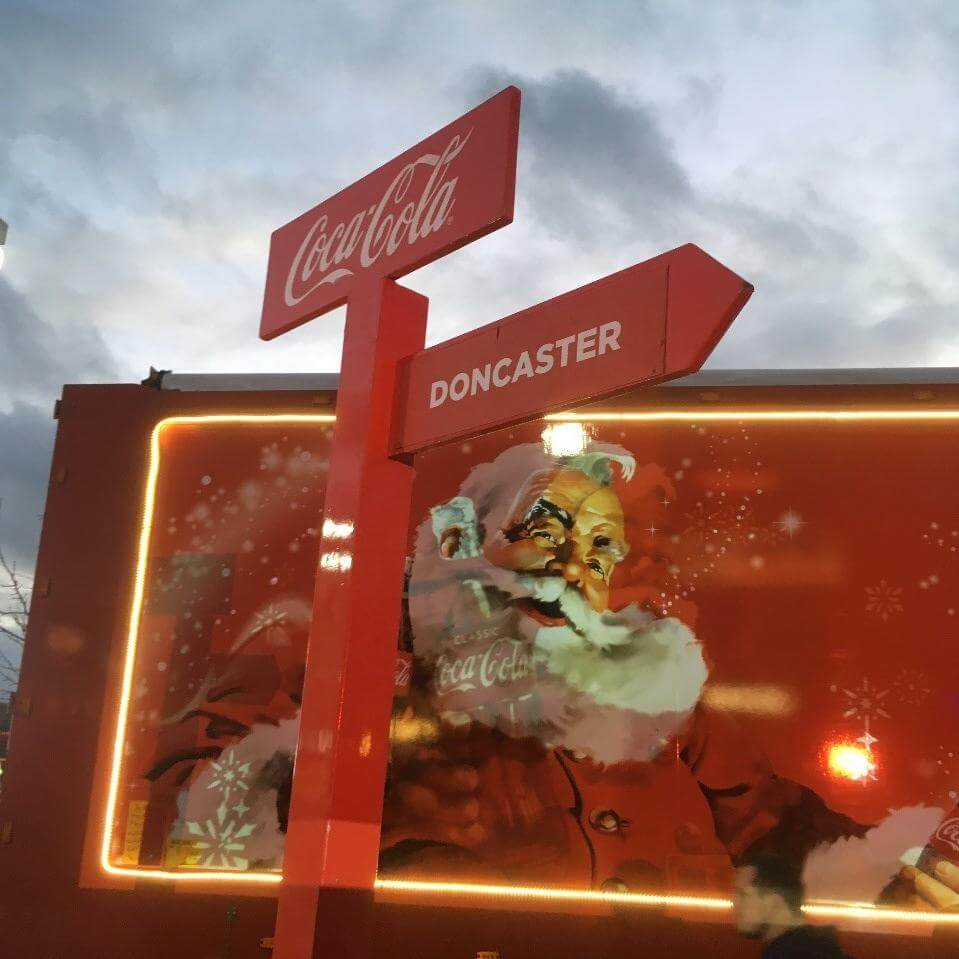 Coca Cola Christmas Truck comes to Doncaster