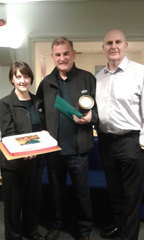 Aston Employee Rewarded for 25 Years Service