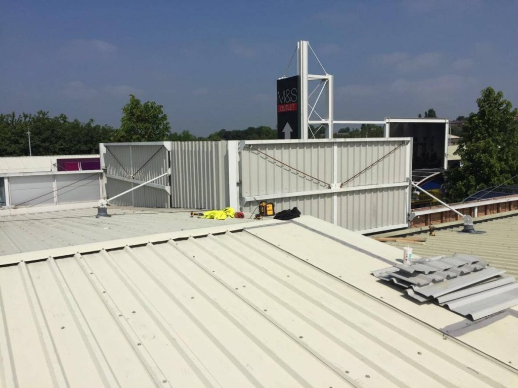 Aston Services Group fits High level cladding at Junction 32