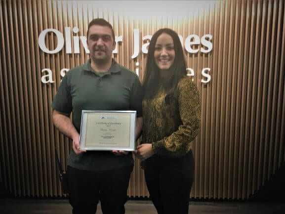 Quinton receives Certificate of Excellence
